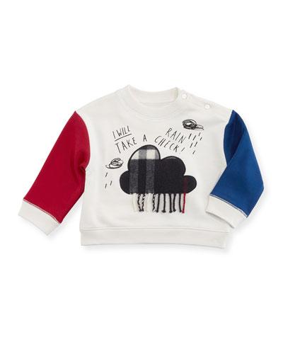 Rain Check Colorblock Sweatshirt, Size 6M-2Y