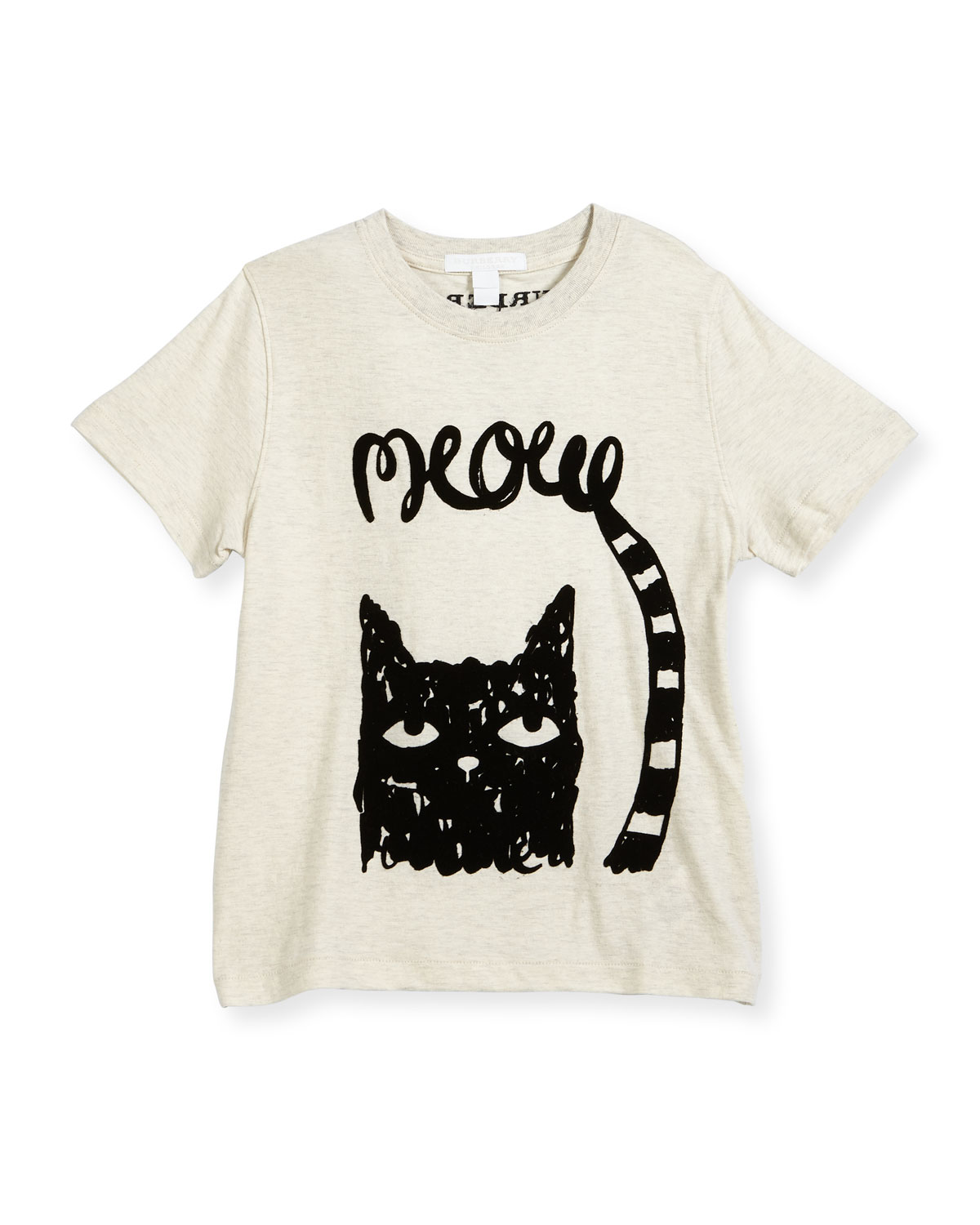 Meow Short-Sleeve Jersey Tee, Size 4-14