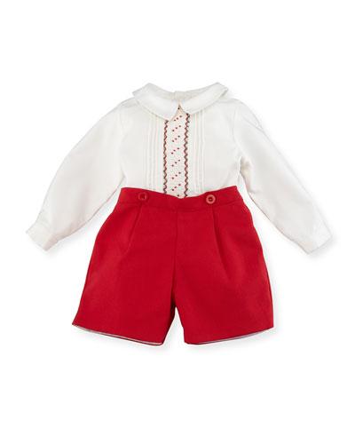 Smocked Shirt w/ Shorts, Size 3-24 Months