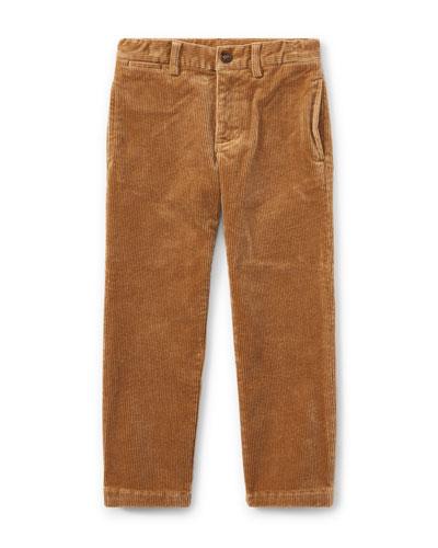 Suffield 10-Wale Corduroy Pants, Khaki, Size 5-7
