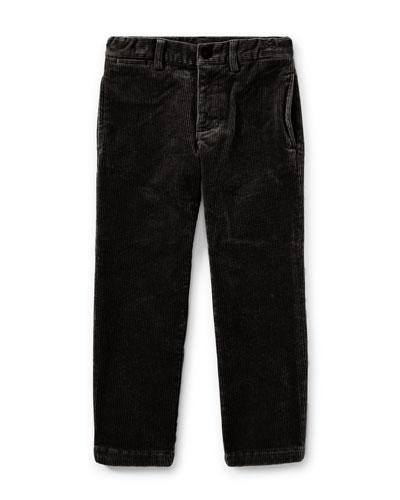 Suffield 10-Wale Corduroy Pants, Black, Size 5-7