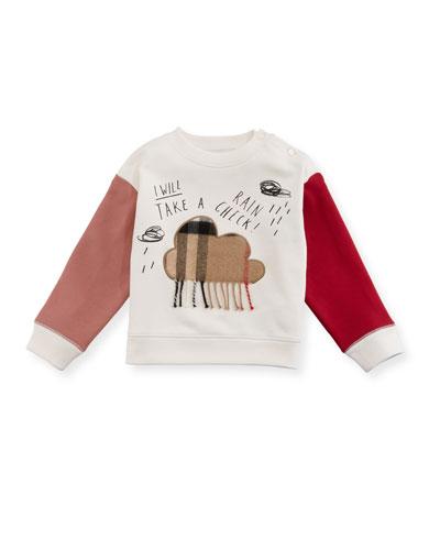 Rain Check Colorblock Sweatshirt, Size 6M-3Y