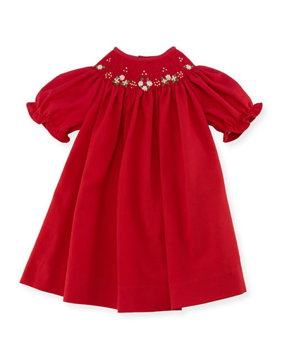 Bishop Dress, Red, Size 3-24 Months