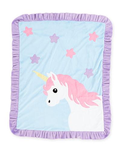 Boogie Baby Unicorn Plush Baby Blanket