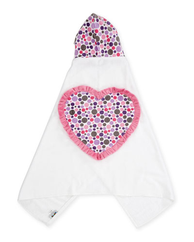 Ruffle Heart Hooded Bath Towel