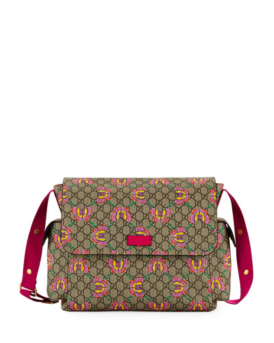 GG Supreme Canvas Butterfly Diaper Bag w/ Changing Pad