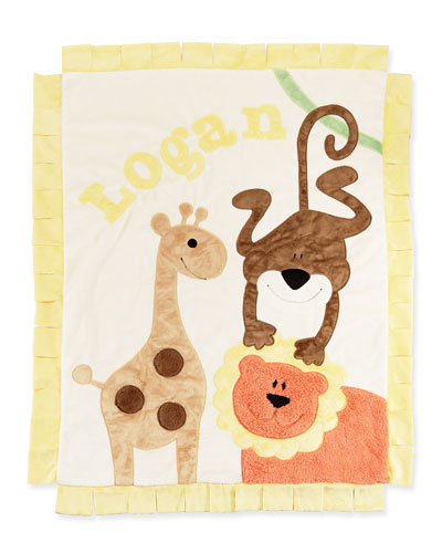 Personalized Wild Ones Plush Blanket, Cream