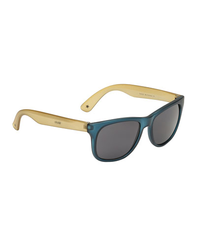 Kids' Two-Tone Translucent Sunglasses