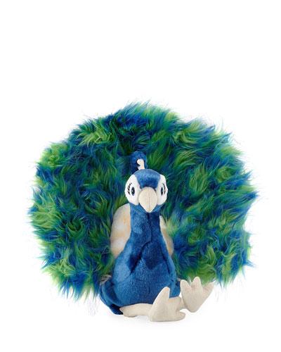 Midnight Peacock Stuffed Animal, 10