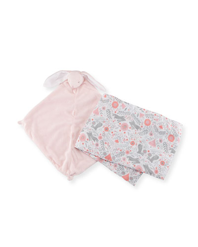 Take Me Home Bunny Swaddle and Blankie Gift Set