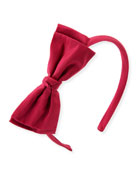 Girls' Taffeta Bow Headband