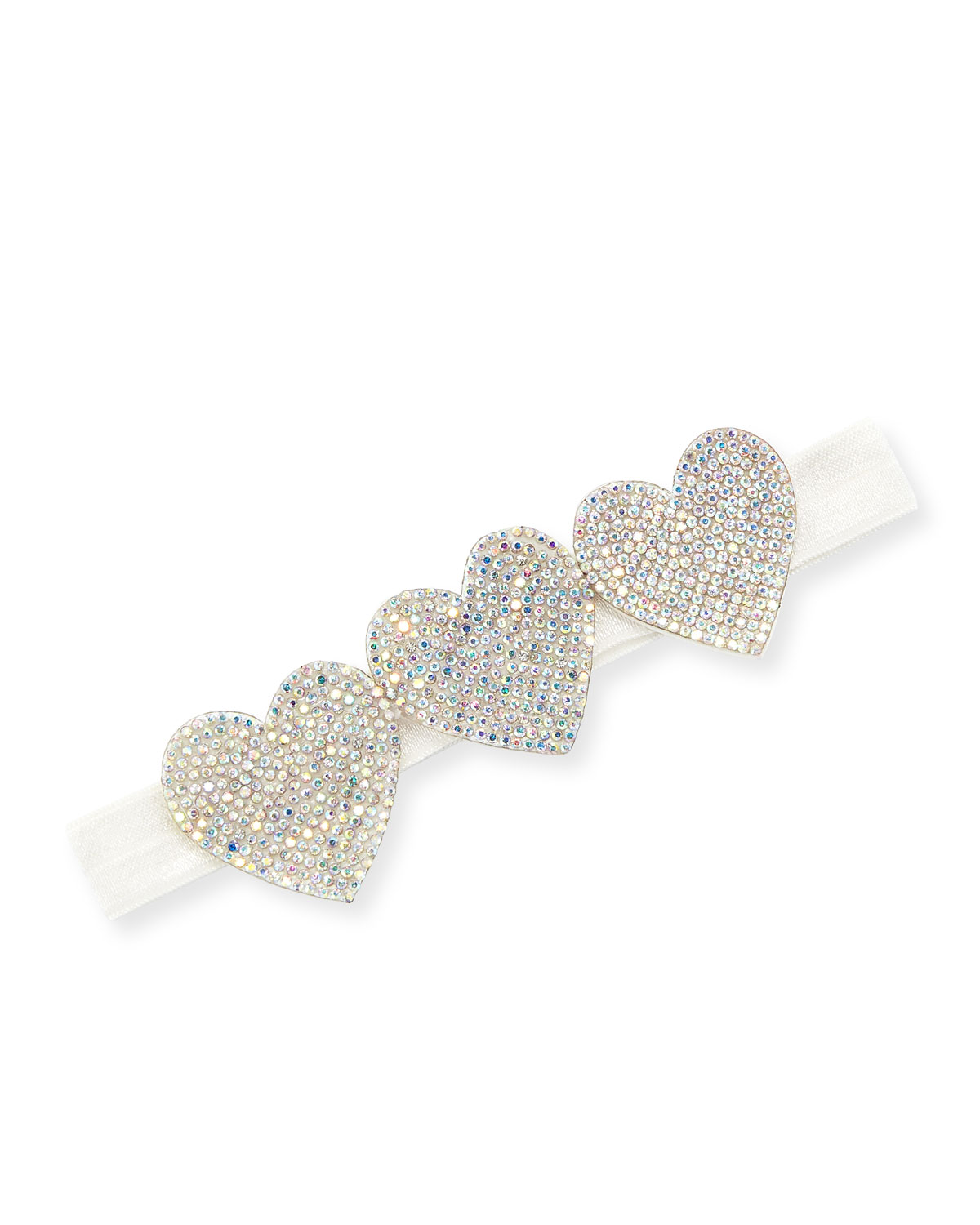 Bari Lynn Accessories Girls' Crystal Hearts Headband