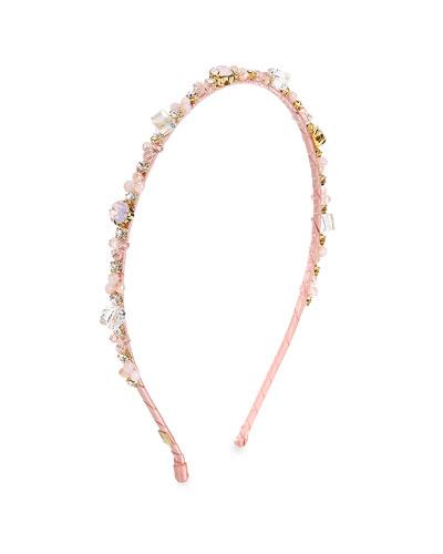 Girls' Crystal & Stone Headband