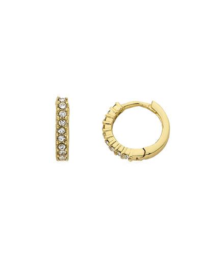 Girls' Crystal Hoop Earrings