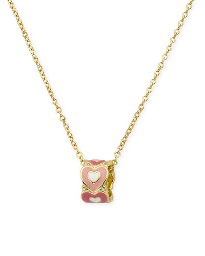 Girls' Heart Pendant Chain Necklace, Multi