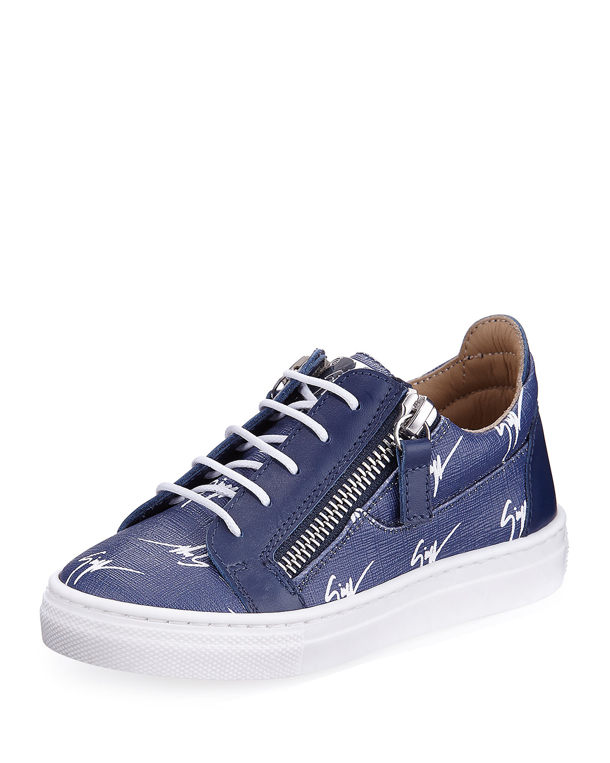 LogoPrint Leather LowTop Sneakers Toddler Sizes 6M9T