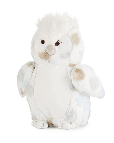 Little Otrade Plush PolkaDot Owl Blue