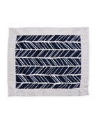 Herringbone Security Blanket, Navy