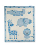 Art Walk Jungle Cotton Baby Blanket