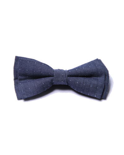 Boys' Dot Bow Tie, Blue