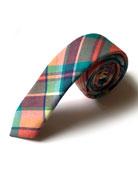 Boys' Woven Plaid Tie