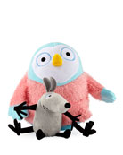 Greg Pizzoli's Owl and Noise Soft Toy Pair