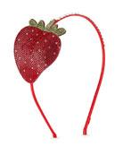 Girls' Crystal Strawberry Headband