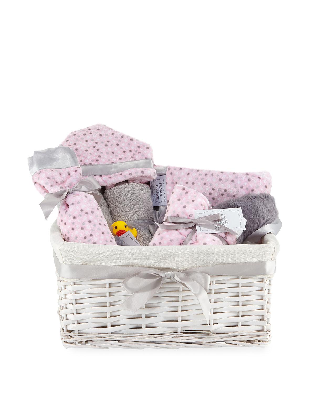 Alex Dot Plush Gift Basket Pink