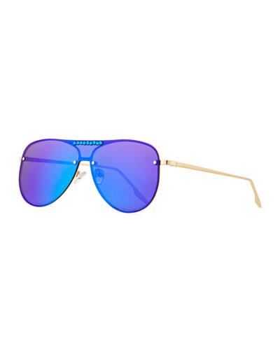 fb1098f00f Crystal Aviator Sunglasses
