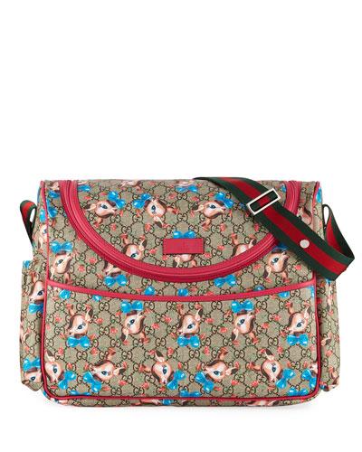 980be84b5a9e Gucci Kids' GG Supreme Fawns Print Shoulder Bag | Neiman Marcus