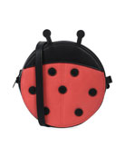 Stella McCartney Kids Girls' Faux-Leather Ladybug Crossbody Bag