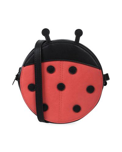 Girls' Faux-Leather Ladybug Crossbody Bag