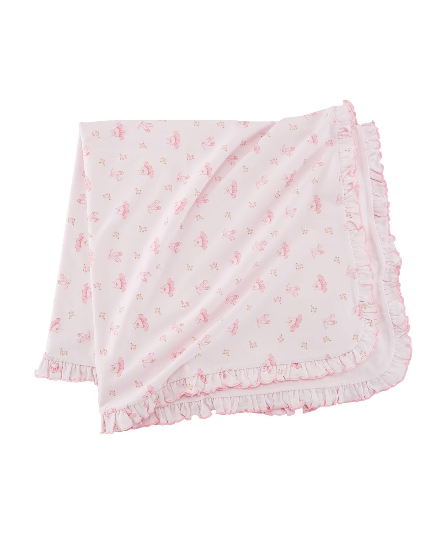 Prima Ballerina Pima Baby Blanket