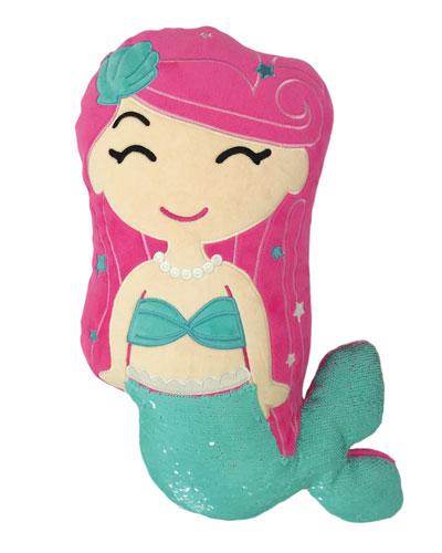 Kids' Sequin Mermaid Pillow