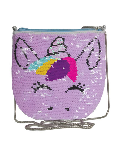 Kids' Unicorn Sequin Crossbody Bag