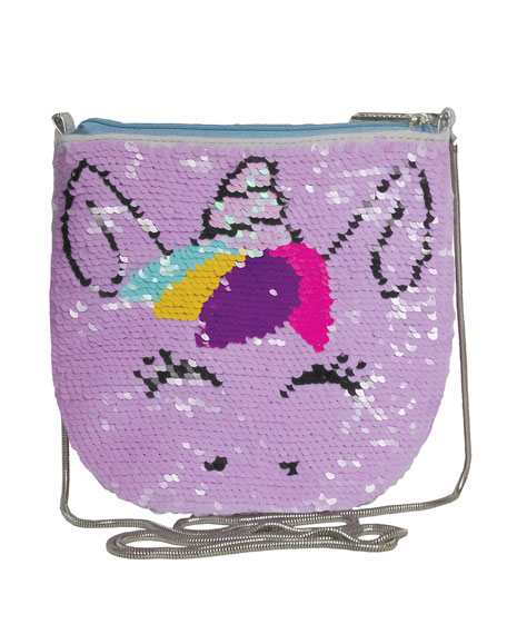 Iscream Kids' Unicorn Sequin Crossbody Bag