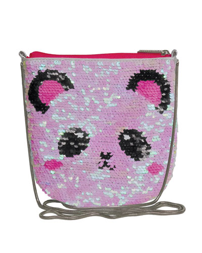 Kids' Panda Sequin Crossbody Bag