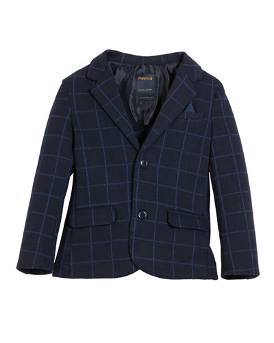 Studded Faux-Leather Jacket,  Size 3-6
