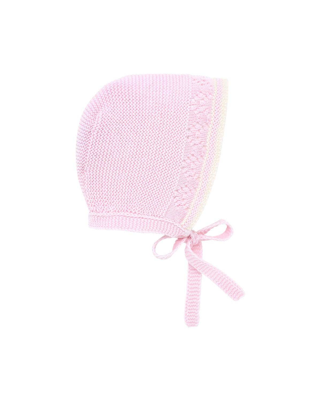 Two-Tone Knit Baby Bonnet