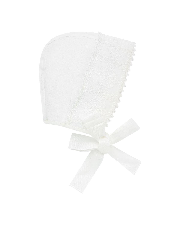 Lace-Trim Baby Bonnet