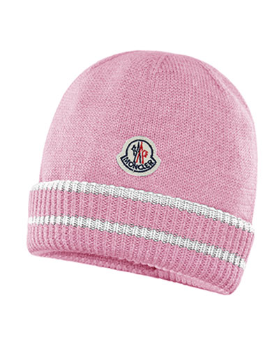 Kids' Virgin Wool Striped-Cuff Beanie Hat