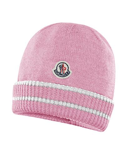 95112980db6 Quick Look. Moncler · Kids  Virgin Wool Striped-Cuff Beanie Hat