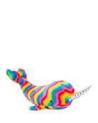 Douglas Large Rainbow Narwhal Plush Stuffed Animal Toy