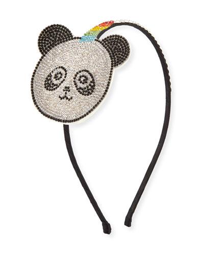 Girls' Crystal Panda-Unicorn Headband