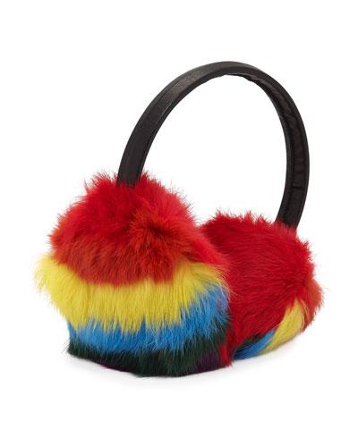 Girls' Multicolored Fur Earmuffs