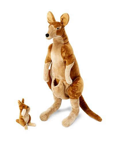 Kangaroo and Joey Lifelike Stuffed Animals