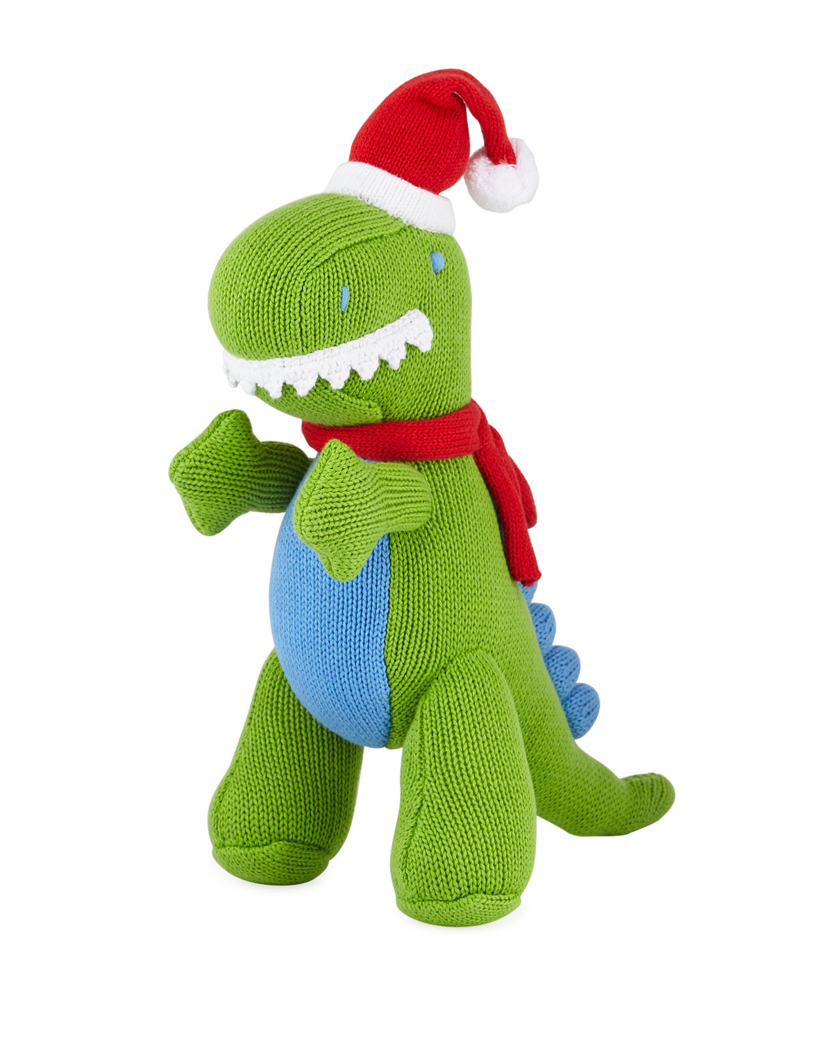 Knit Christmas TRex Doll 12