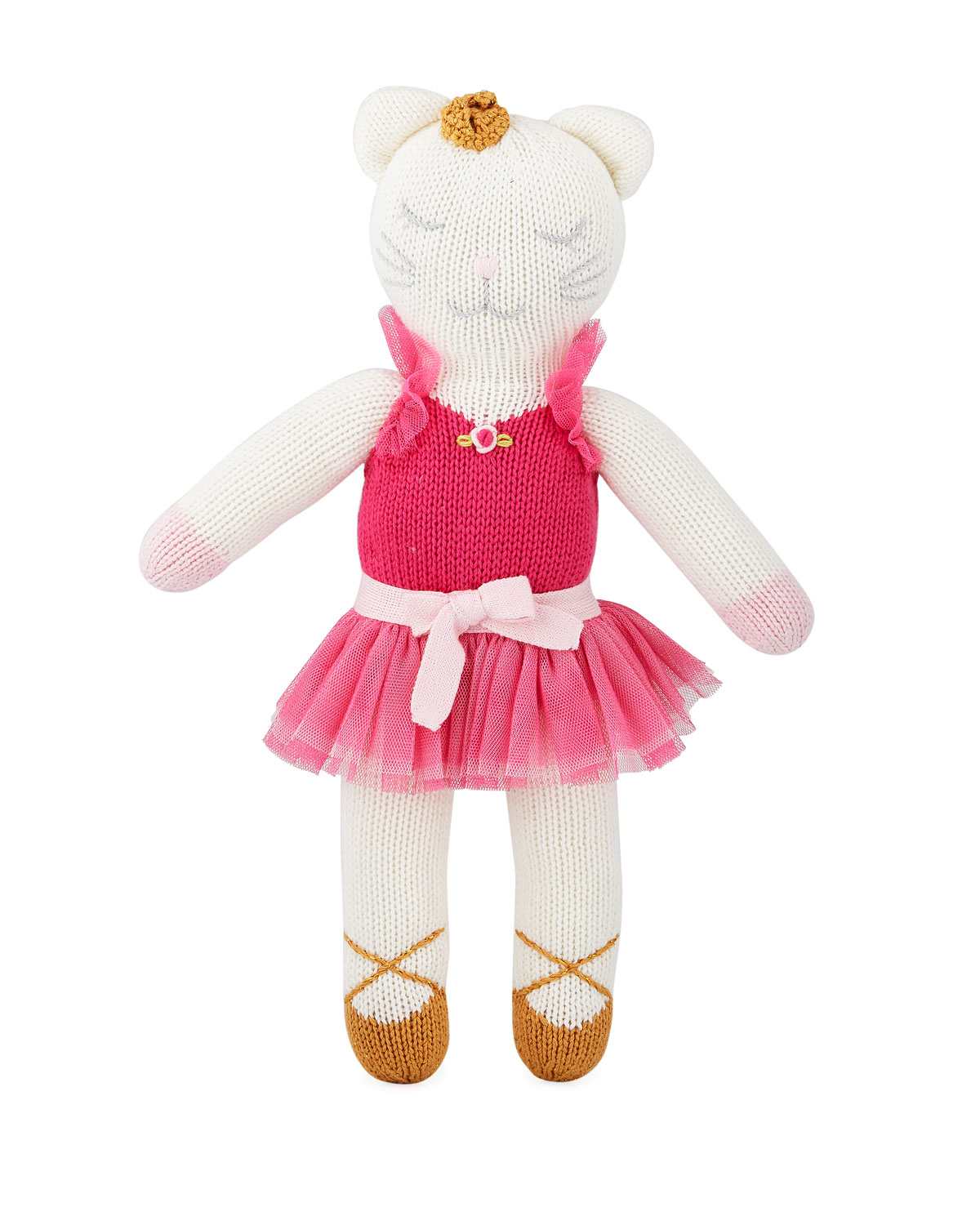 Knit Ballerina Kitten Doll 14