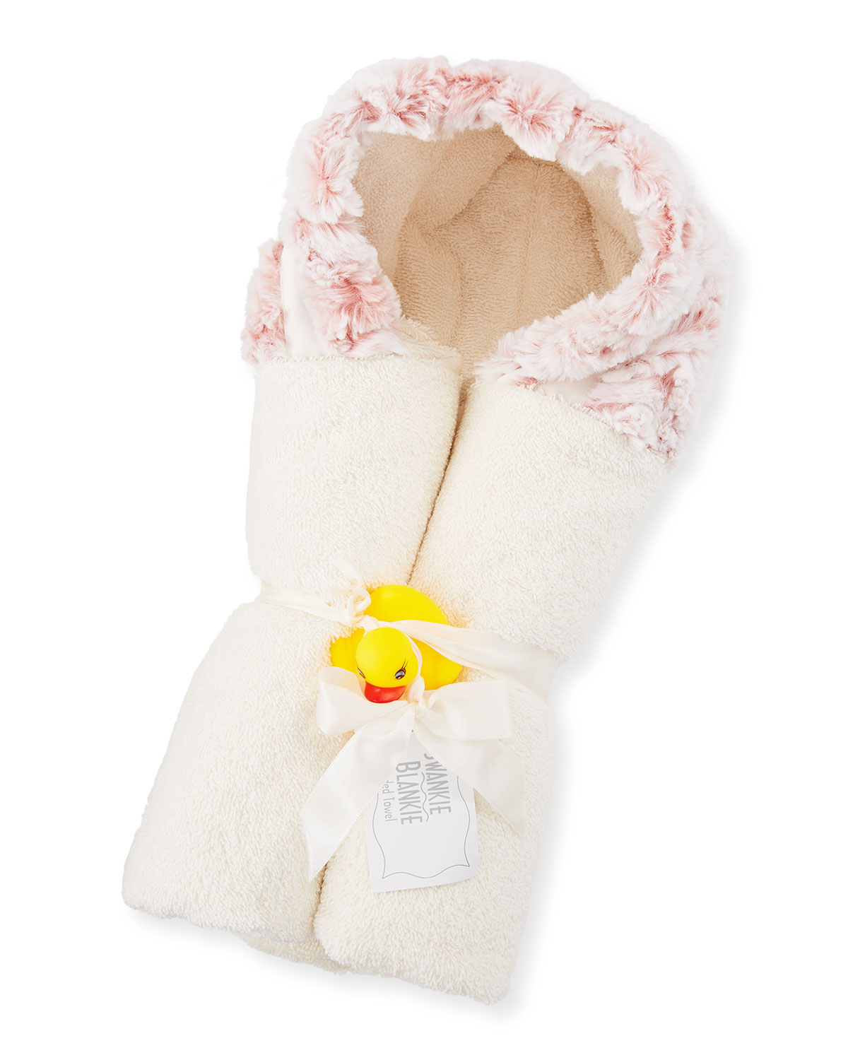 Riley Hooded Towel, Pink