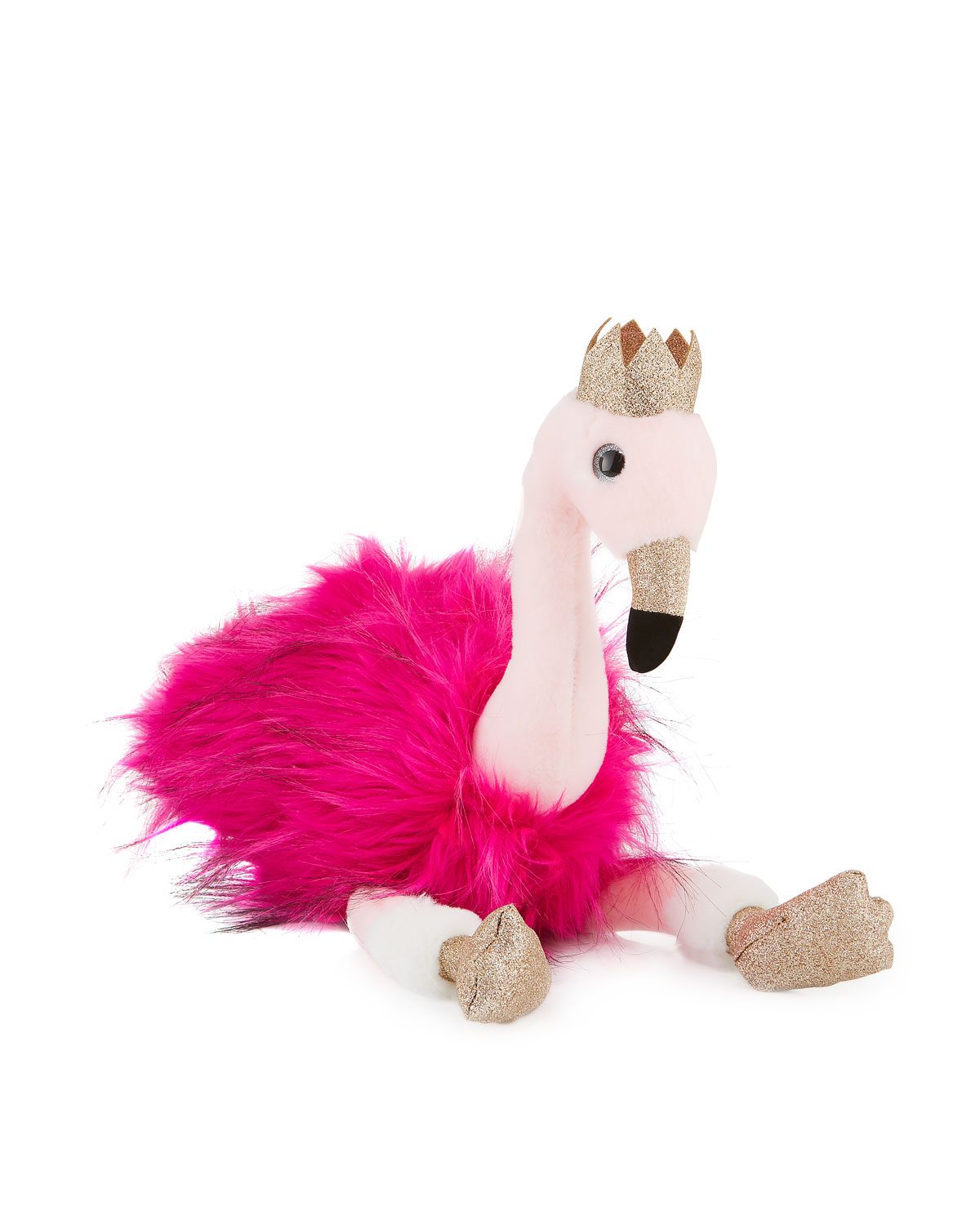 Stuffed Flamingo Toy with Crown 18